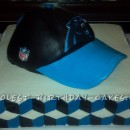 Coolest Carolina Panther Football Cap Birthday Cake