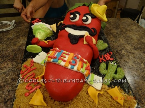Coolest Chili Red Hot Pepper Cake