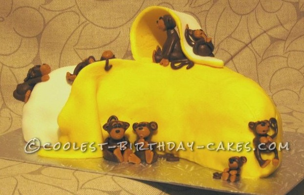 Coolest Banana And Monkey Cake