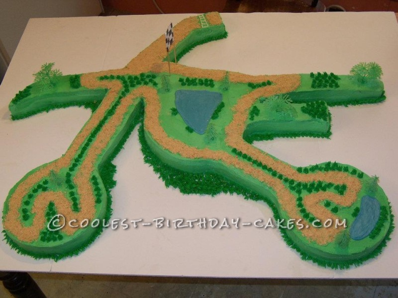 Coolest Dirt Bike Cake for your Little Rider