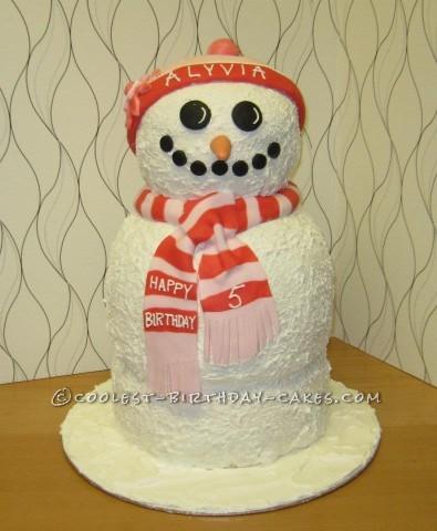Coolest Snowman Cake