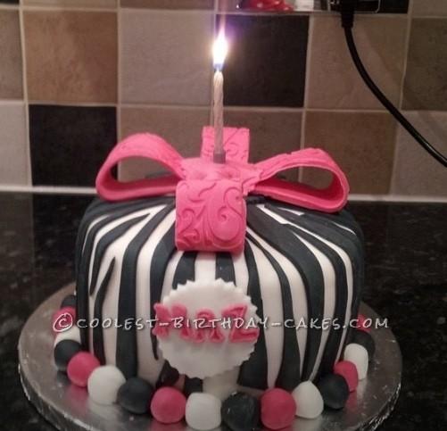 Coolest Zebra Print Cake
