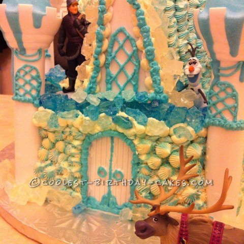 Coolest Disney's Frozen Castle Cake