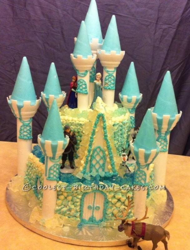 Frozen Disney Castle Cake