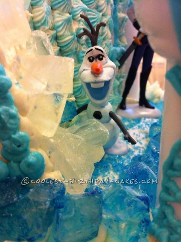 Coolest Disney's Frozen Castle Cake