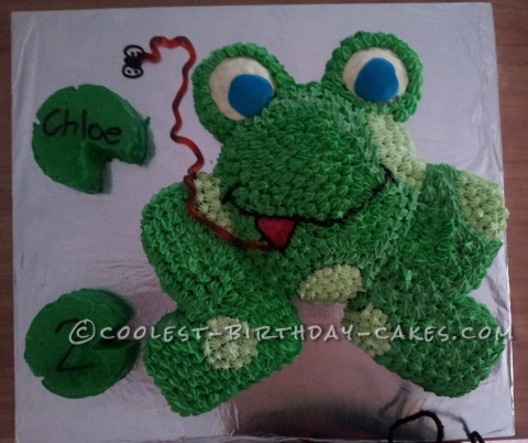 Galumph Went the Little Green Frog Cake