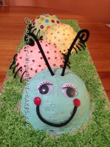 Coolest Caterpillar Cake for Grandson