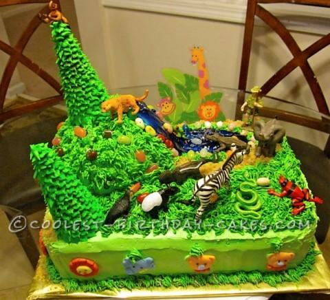 Coolest Jungle Safari Cake