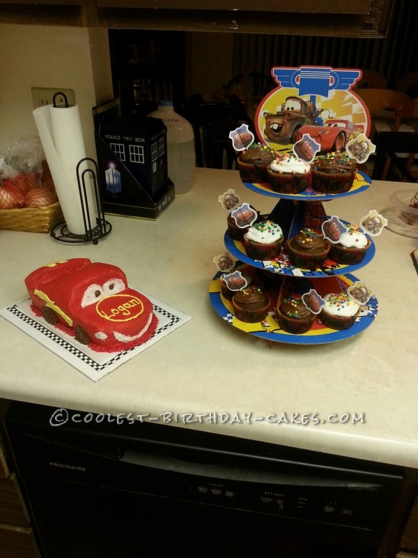 Coolest Lightning McQueen Cars Cake