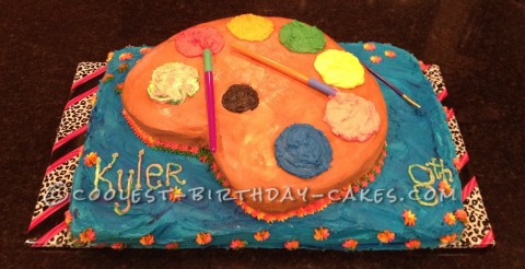 Coolest Little Artist Cake