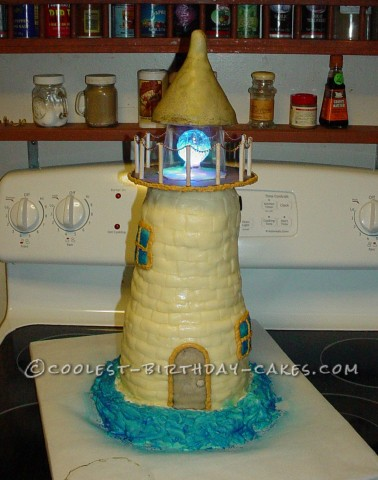 Coolest Surprise Lighthouse Cake for 70th Birthday