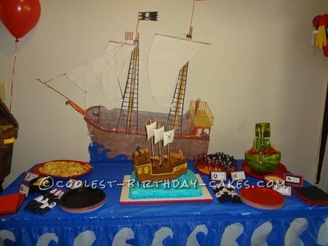 Coolest Pirate Ship Cake