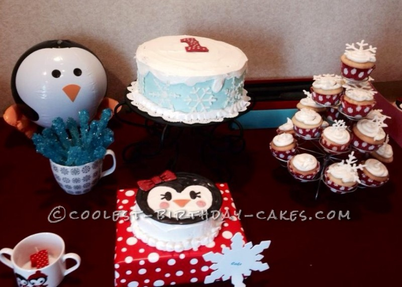 Prettiest Penguin Party Cakes for my ONEderful Daughter's First Birthday