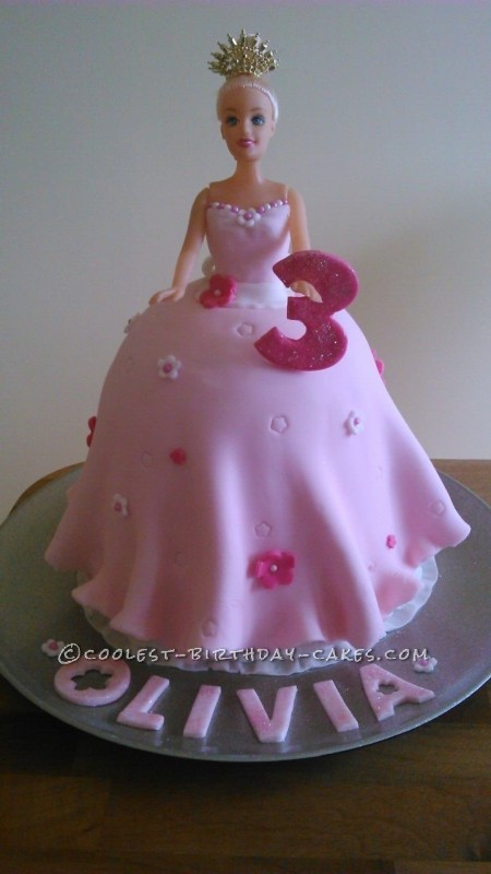 Magnificent Coolest Princess Barbie Birthday Cake Funny Birthday Cards Online Alyptdamsfinfo