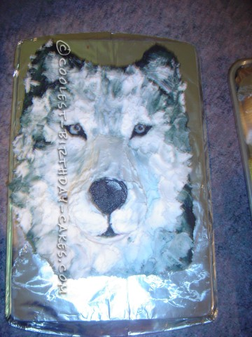 Cool Realistic Wolf Cake For My Daughter