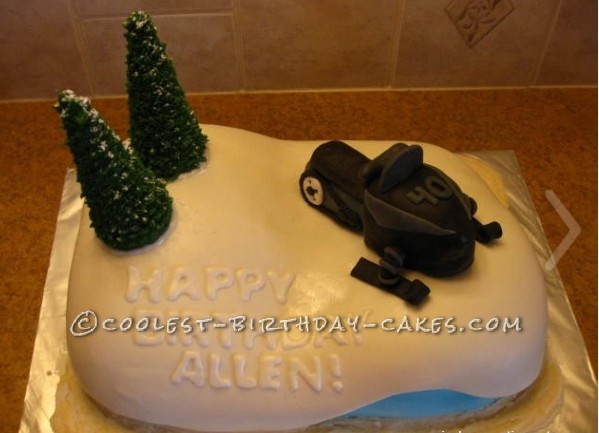 Coolest Snowmobile Cake