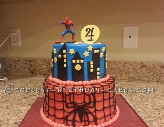 Coolest Spiderman Birthday Cake