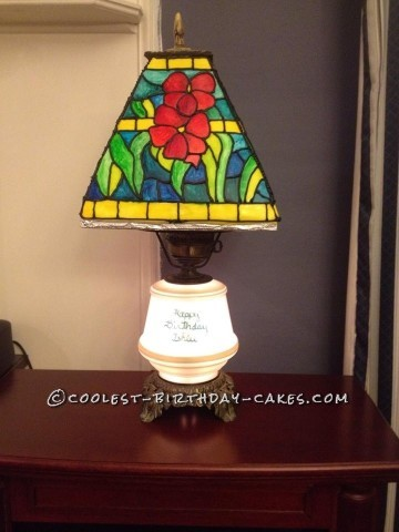 Stained Glass Lamp Cake