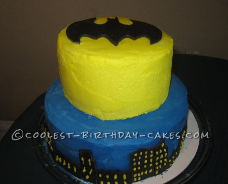 Coolest Two Tier Batman Cake