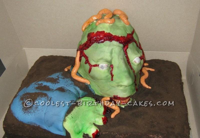 Coolest Zombie Birthday Cake