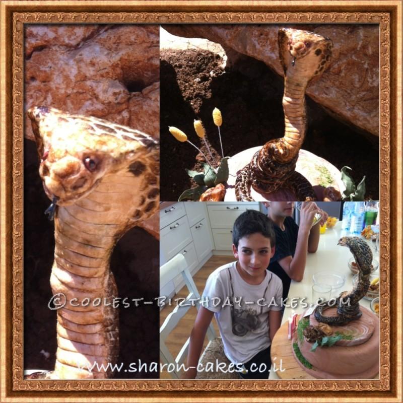 Coolest Cobra Snake Cake