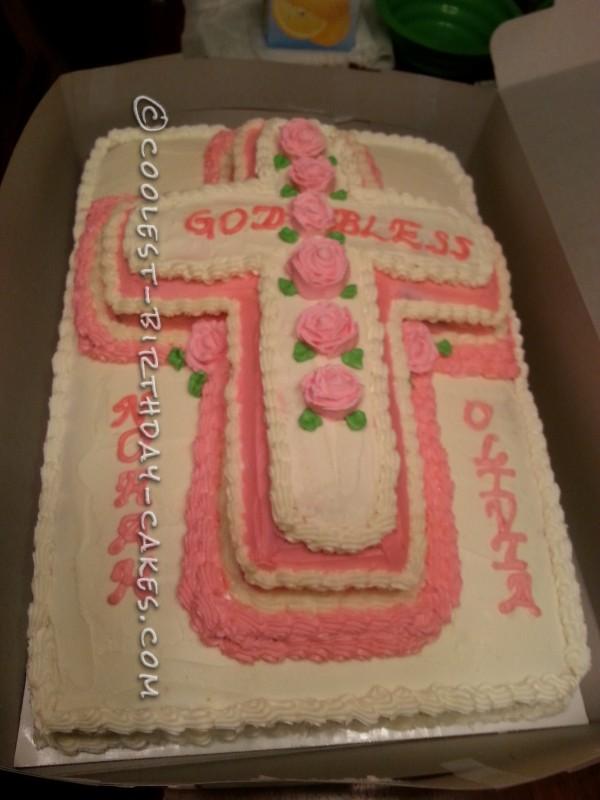 Coolest Baptism Cake