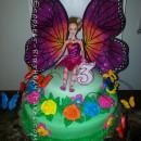 Coolest Barbie Mariposa Flower Cake