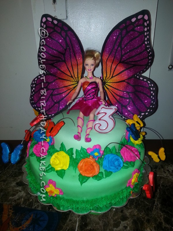 Coolest Barbie Mariposa Flower Cake