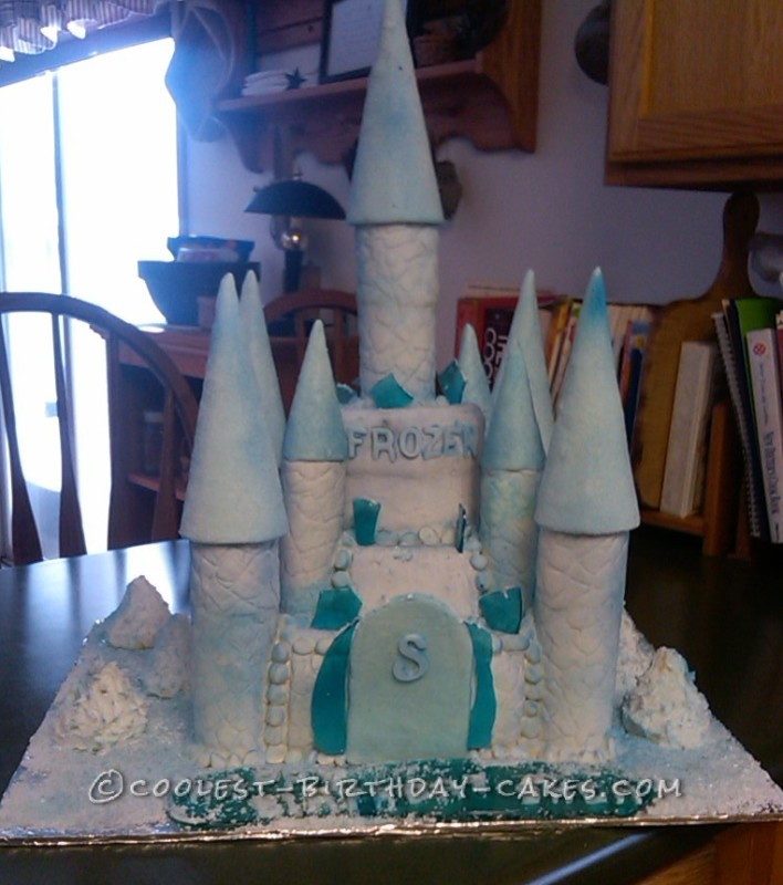 Super Coolest Castle Cake Inspired By The Disney Movie Frozen Funny Birthday Cards Online Overcheapnameinfo