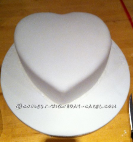 Coolest Heart Shape Anniversay Cake