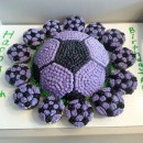Coolest Soccer Ball Cake and Cupcakes