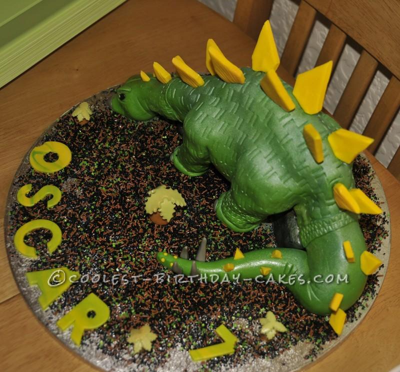 Coolest Dairy Free Stegosaurus Cake