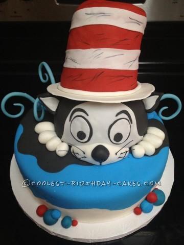 Coolest Dr. Seuss Cat in Hat Cake