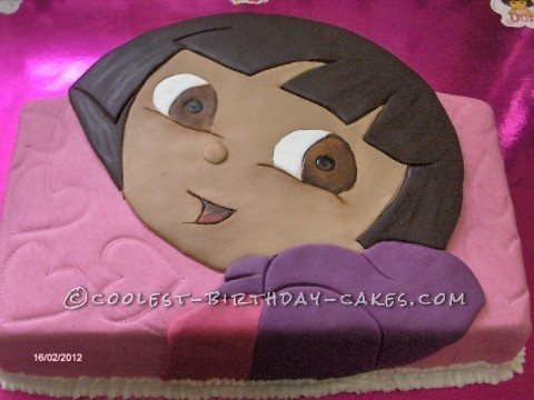 Last Minute Dora Birthday Cake