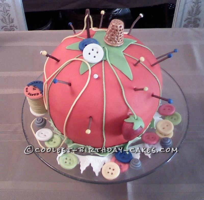 Pin Cushion Cake by Deanna
