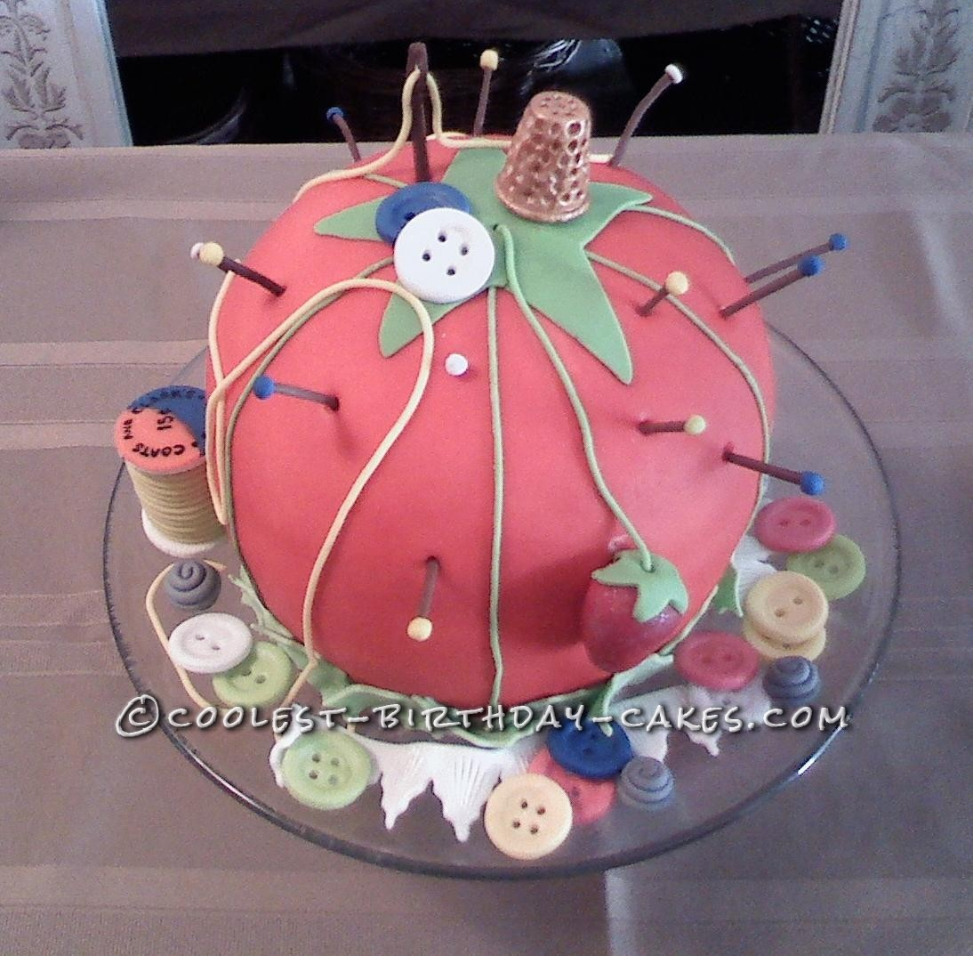 Pin Cushion Cake by Deanna