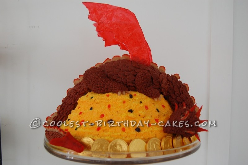 Coolest Smaug the Dragon Cake