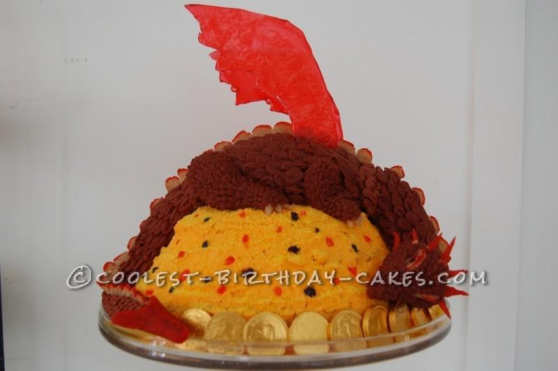 Coolest Smaug the Dragon Cake