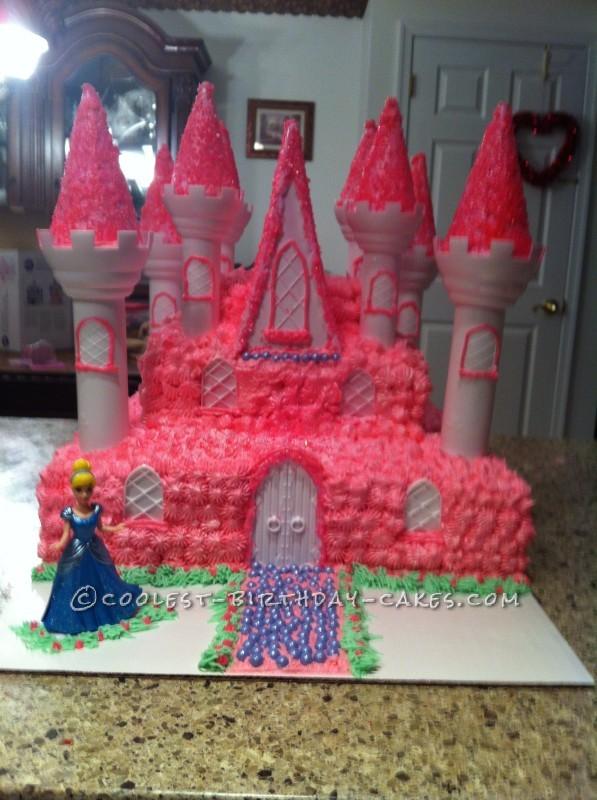 Coolest Pink Princess Castle Cake