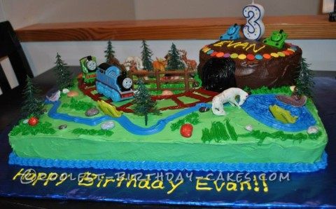 Coolest Thomas the Train Railroad Cake