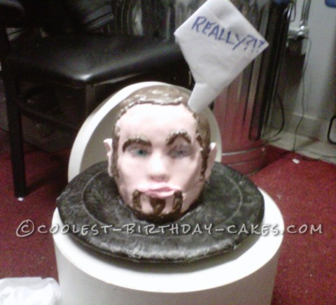 Todd's Head on a Plate Cake