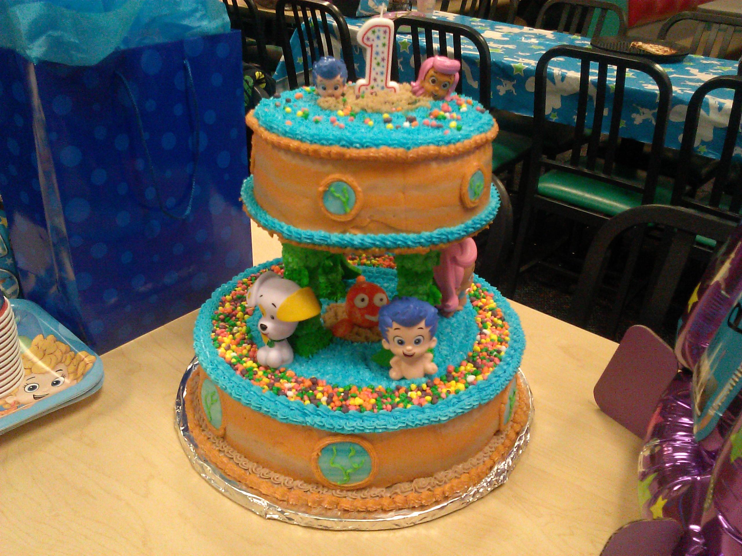Bubble Guppies 1st Birthday Cake