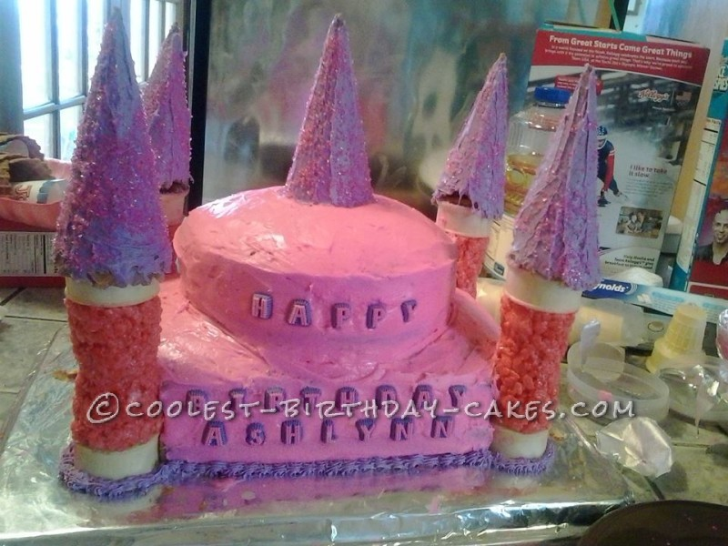 1st Birthday Princess Castle Cake