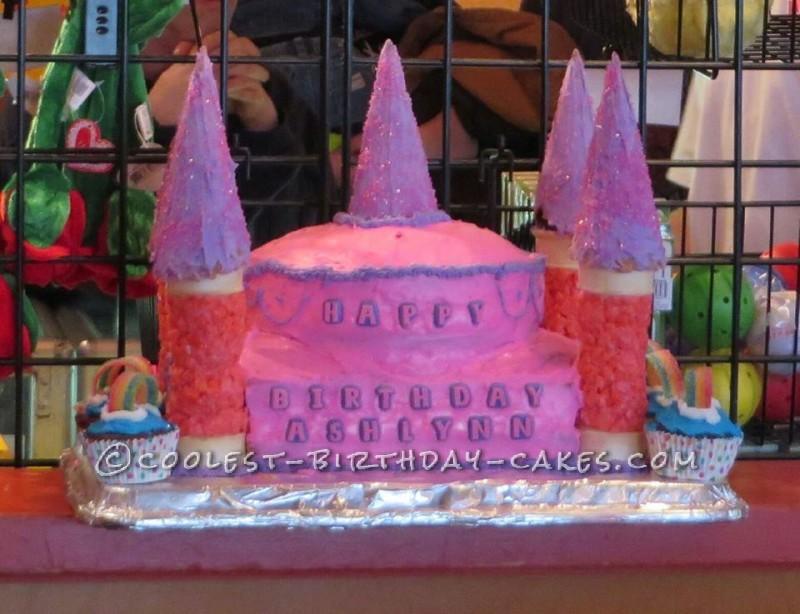 1st Birthday Princess Castle Cake