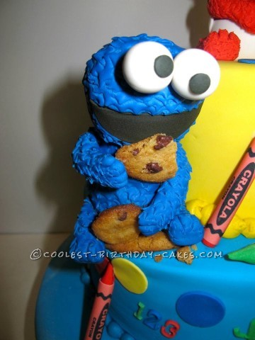 Cookie Monster with real cookies