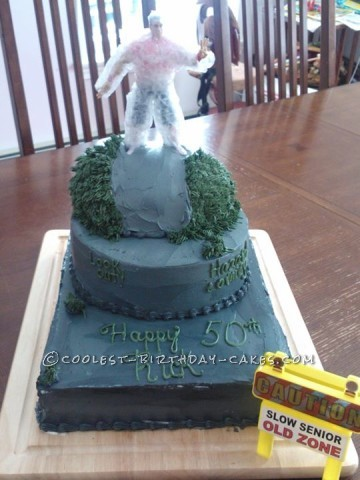 50th Over the Hill Cake