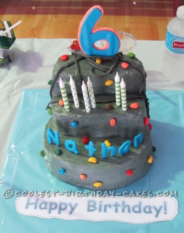 Coolest 6th Birthday Rock Climbing Cake