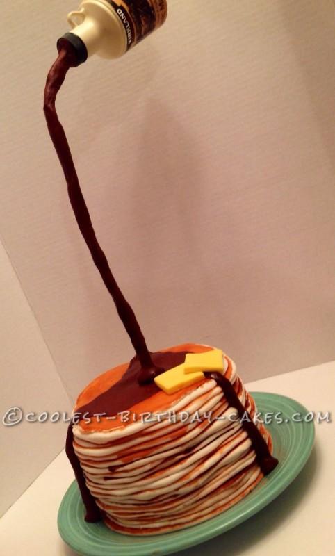 Pancake Breakfast Gravity Defying Cake