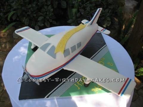 Aeroplane Birthday and Anniversary Cake
