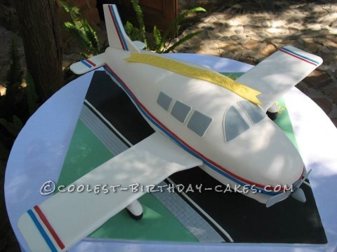 Aeroplane Birthday and Anniversary Cake